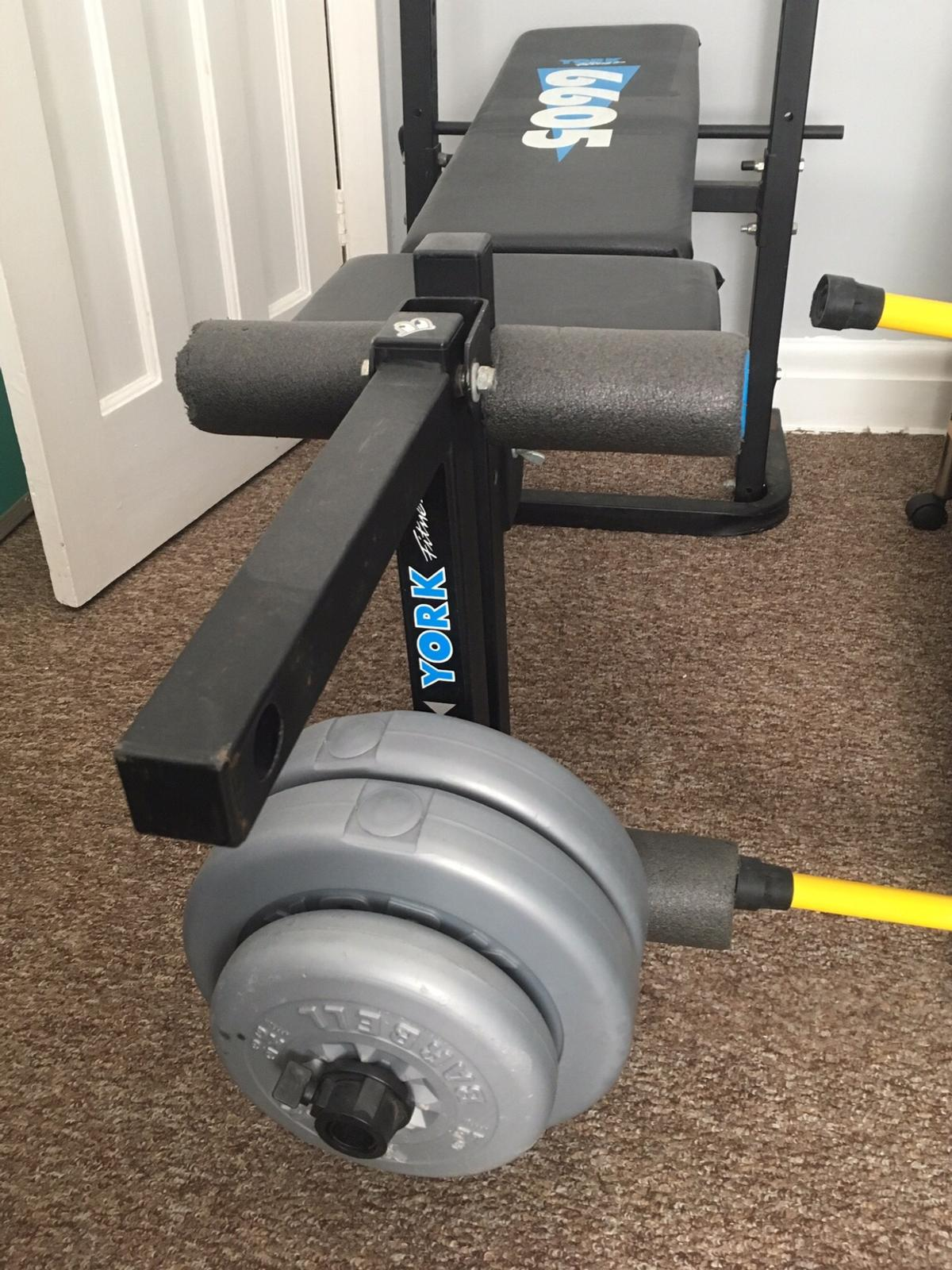 York Fitness 6605 weight bench in L13