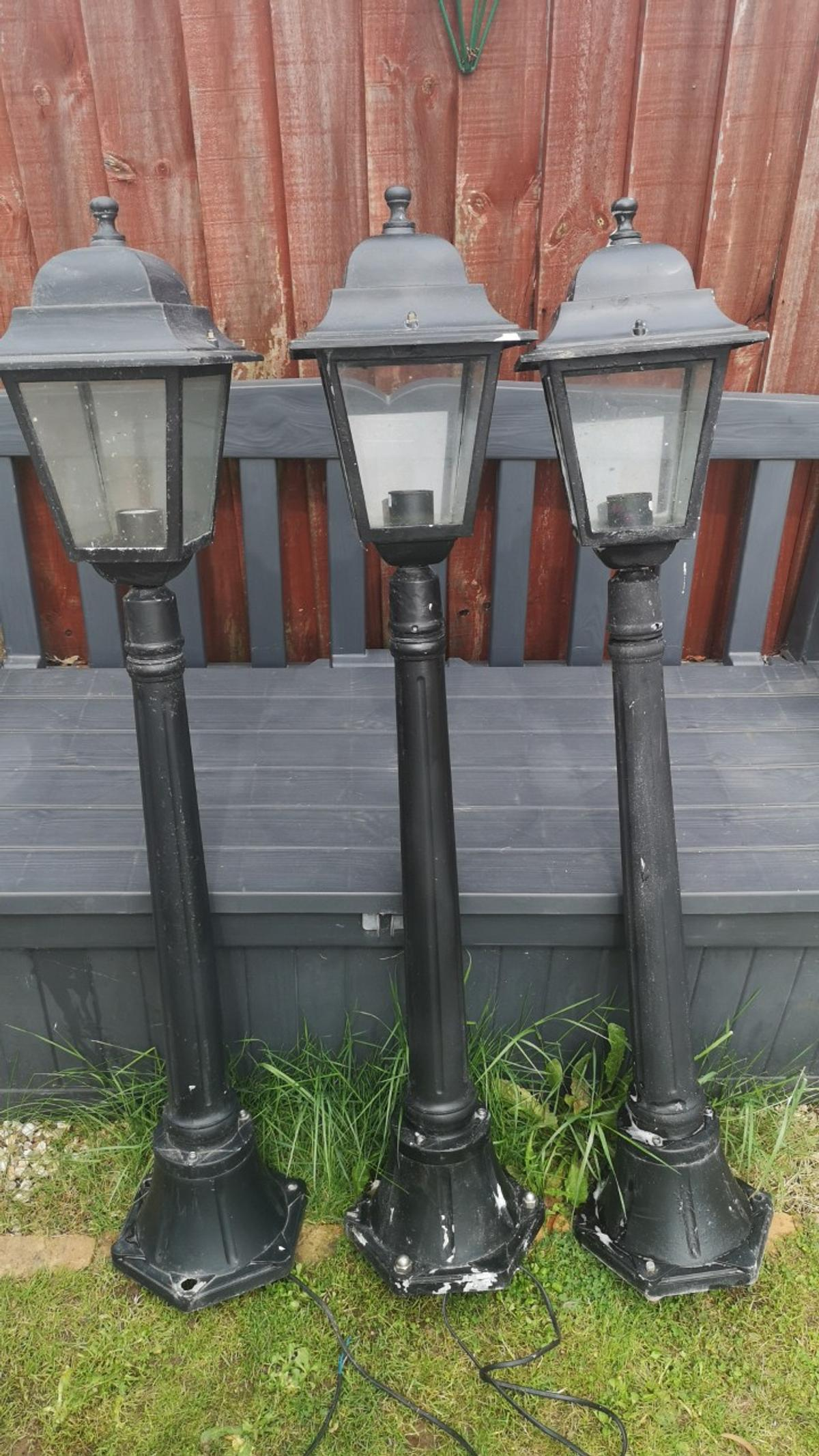 Victorian Style Black Outdoor Lights