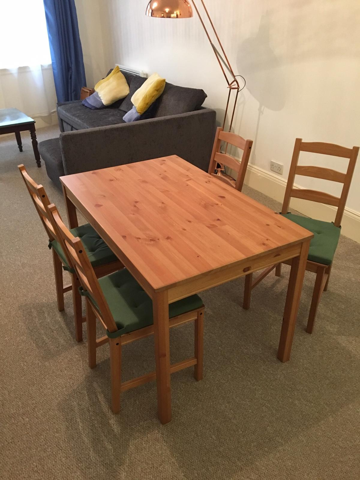 Wooden Dining Table 4 Chairs