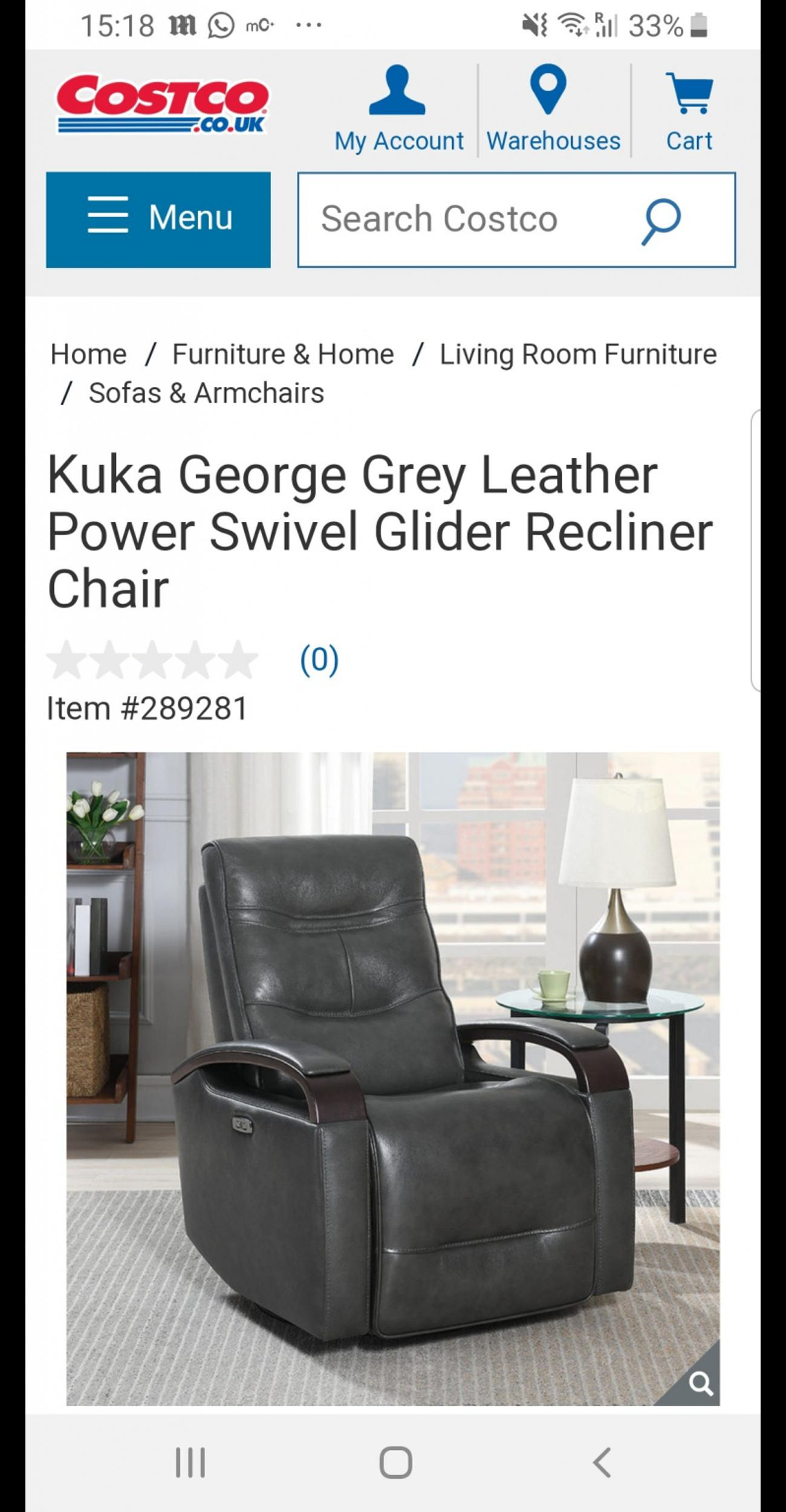 Prime Kuka Grey Leather Electric Recliner Chairs In Ol8 Oldham Fur Cjindustries Chair Design For Home Cjindustriesco