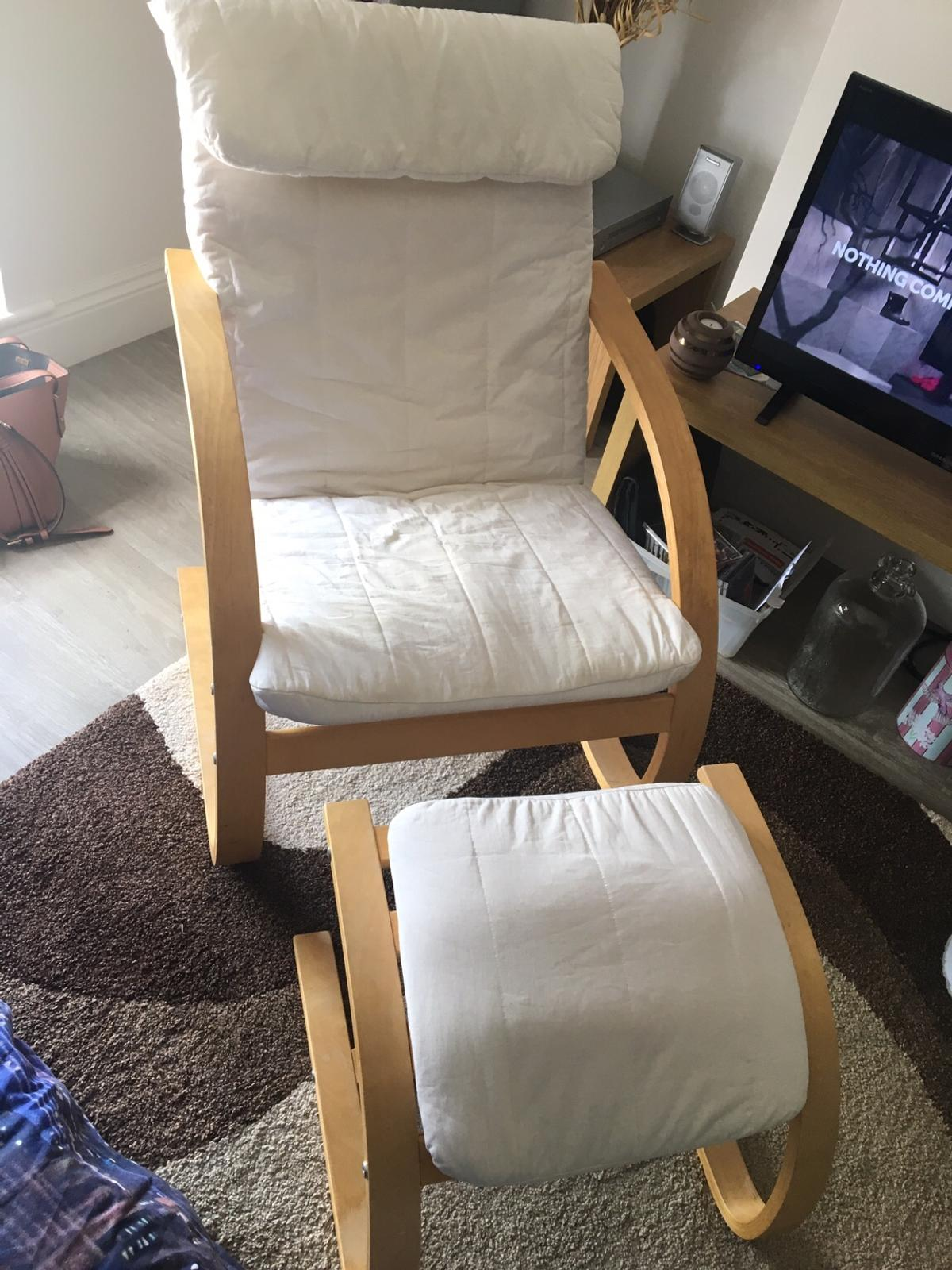 Prime Ikea Poang Chair And Footstool In Wigan For 15 00 For Sale Machost Co Dining Chair Design Ideas Machostcouk