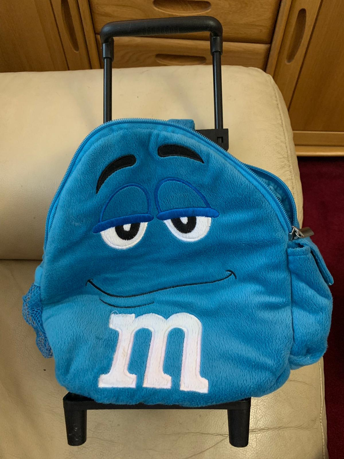 M&M 's Travel Pillow with Pouch, Blue
