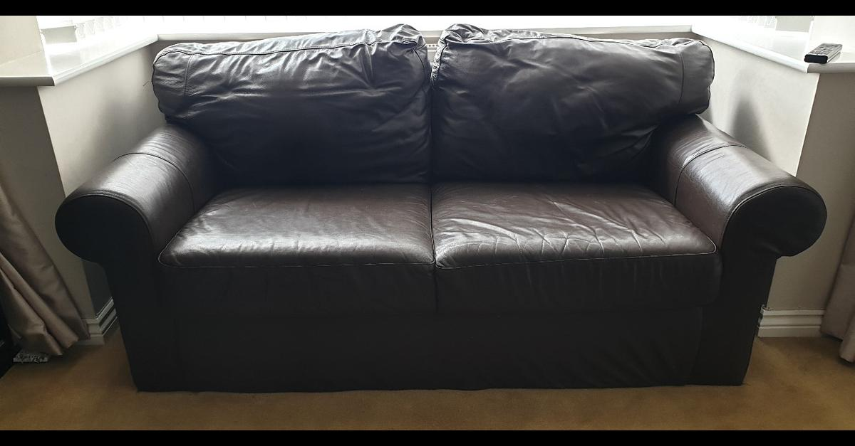 Strange 2 And 3 Seater Ikea Ektorp Leather Brown Sofa Andrewgaddart Wooden Chair Designs For Living Room Andrewgaddartcom