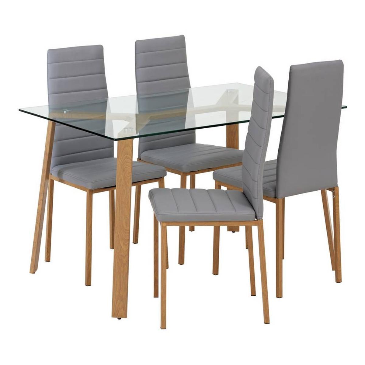 Helena Glass Table And 4 Chairs Grey In Cv2 Coventry For 120 00