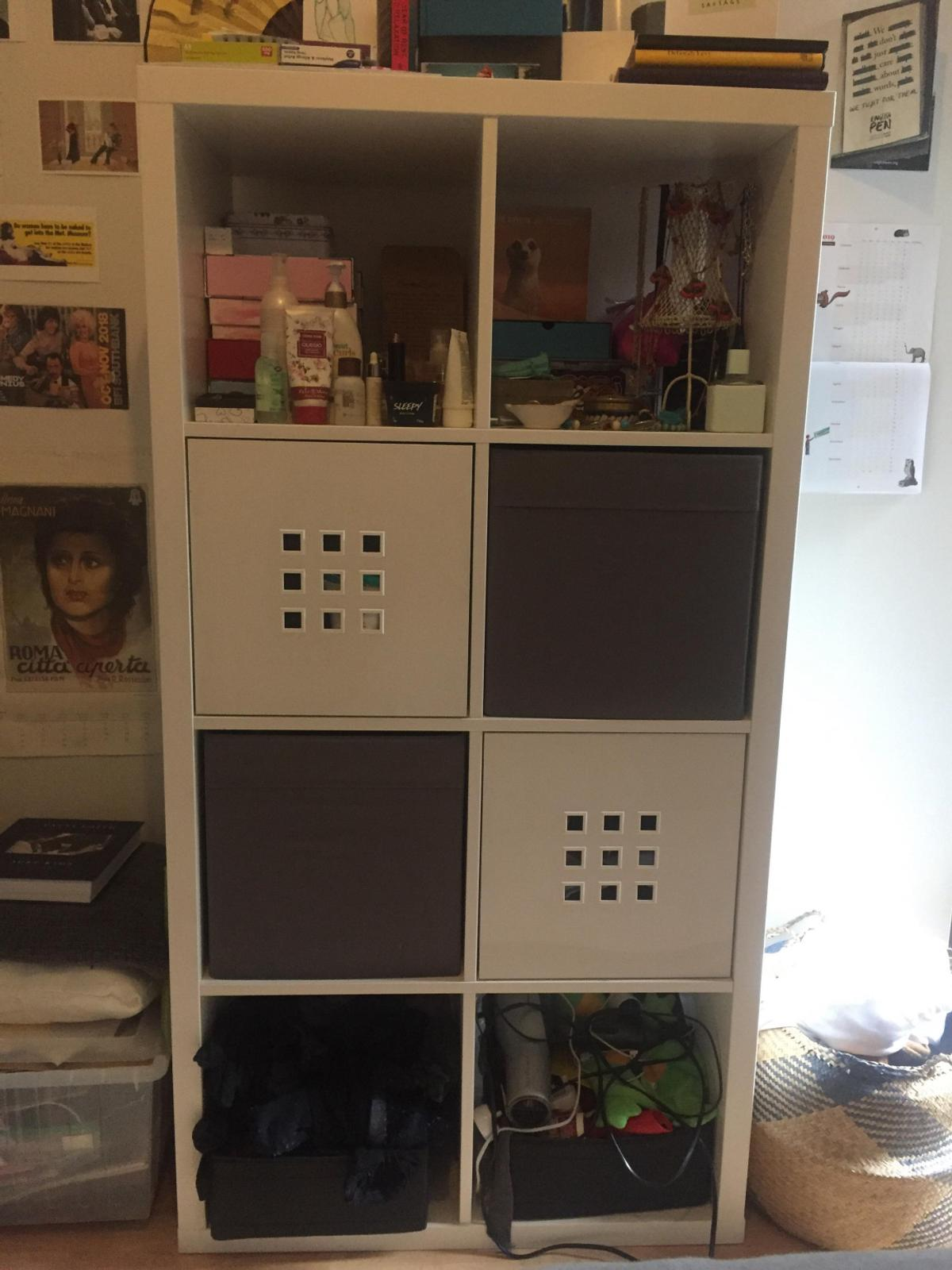 pretty nice 97fcd 578b2 Ikea Shelving Unit with Boxes