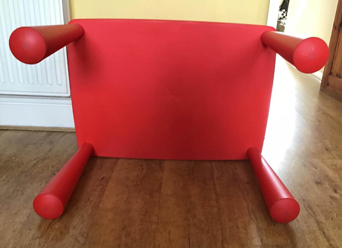 Ikea Mammut Red Table and Two Chairs in WA14 Trafford for