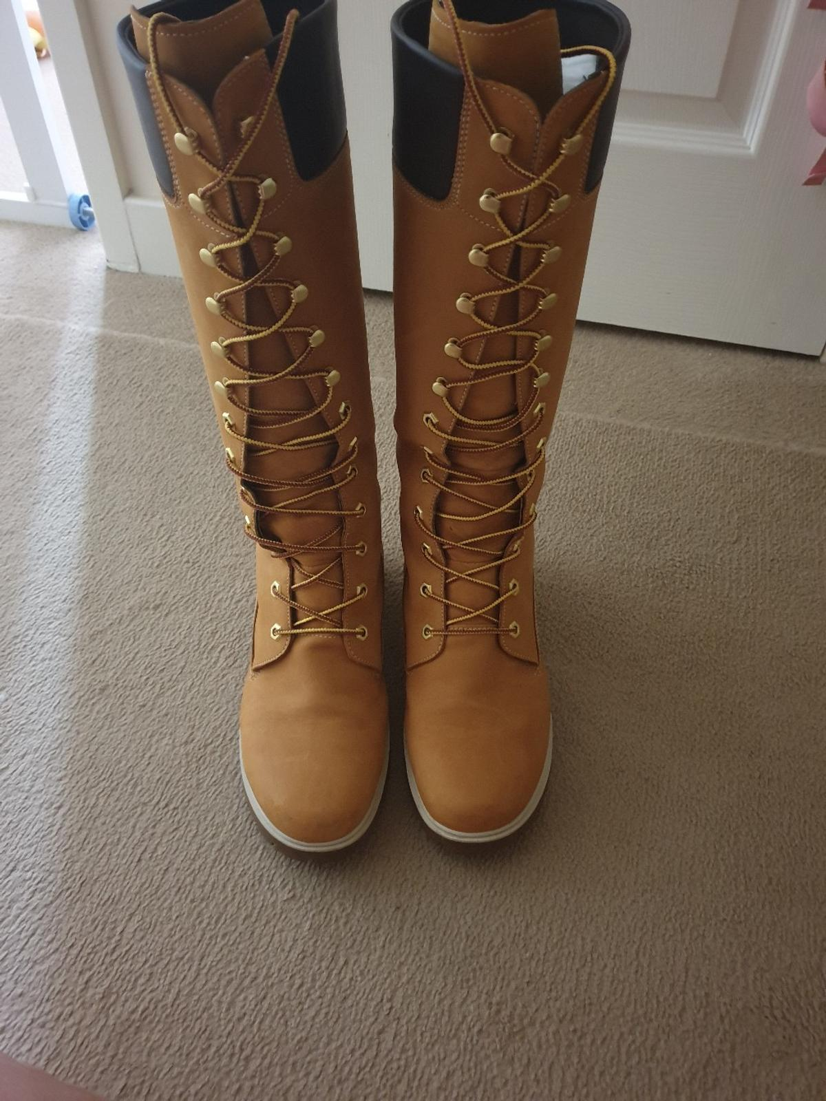 timberland knee high boots size 5