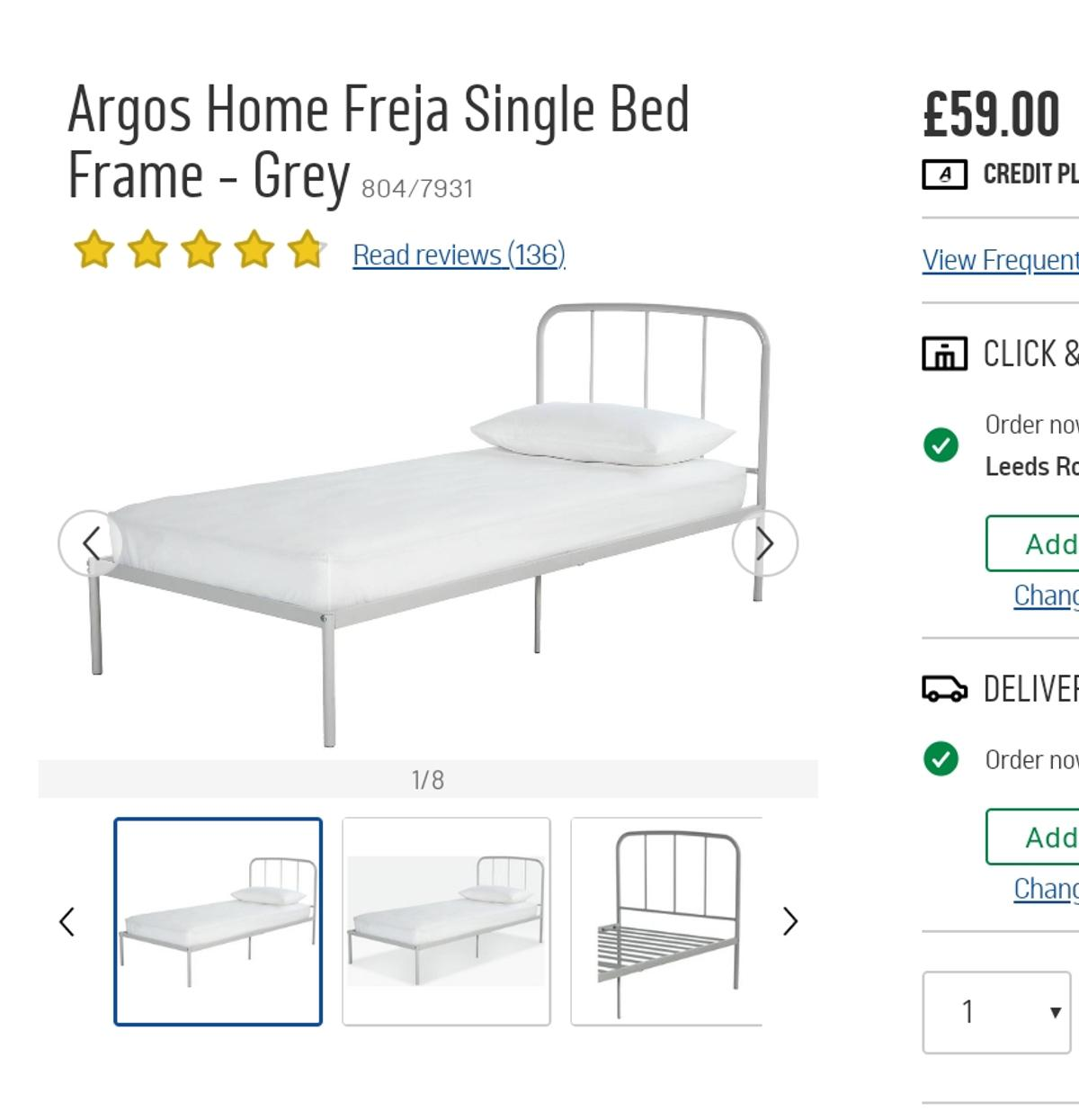 the latest 68797 5319c Argos Home Freja Single Bed Frame