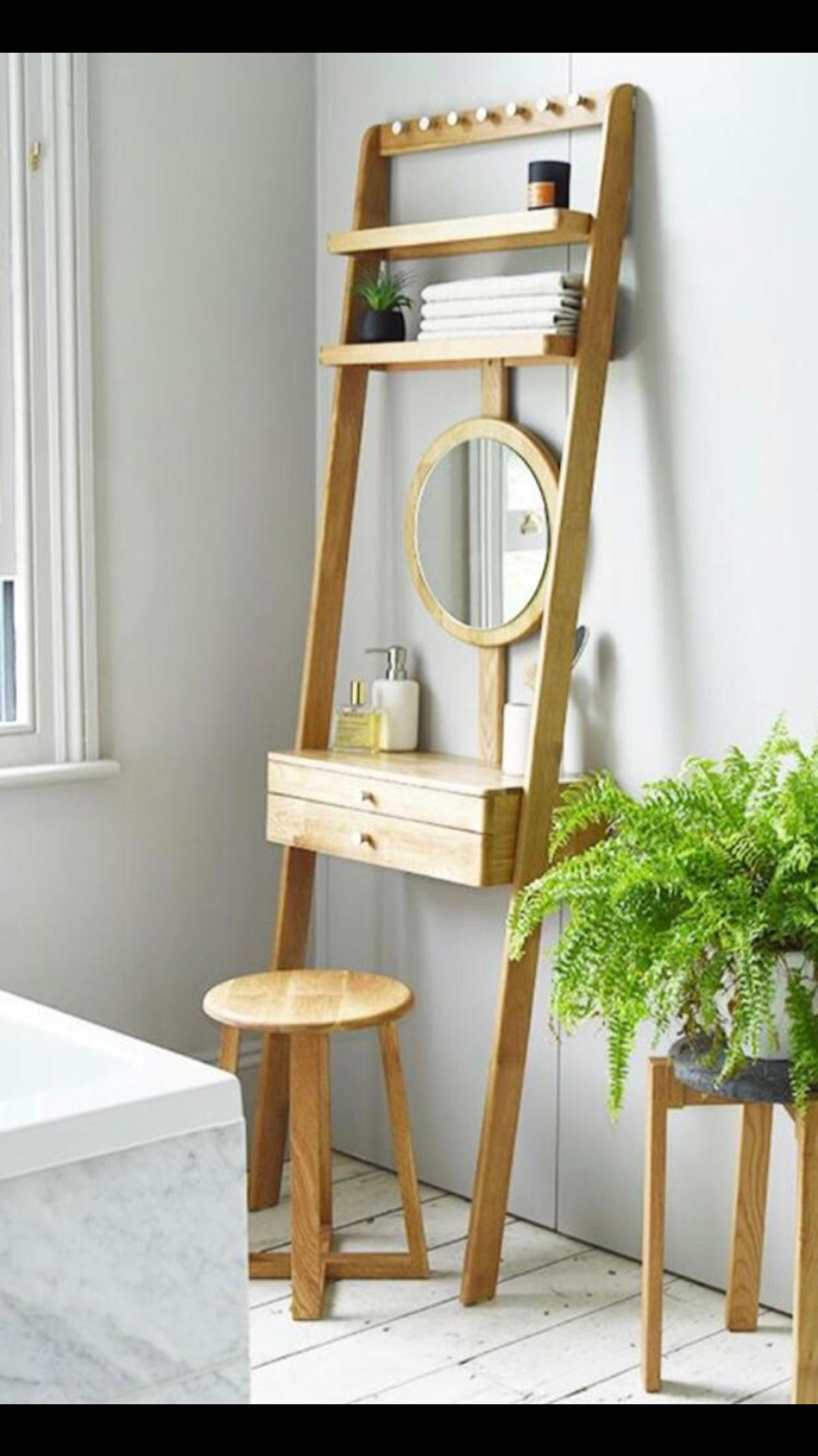 competitive price f1aa4 3abcb Oak leaning ladder mini dressing table