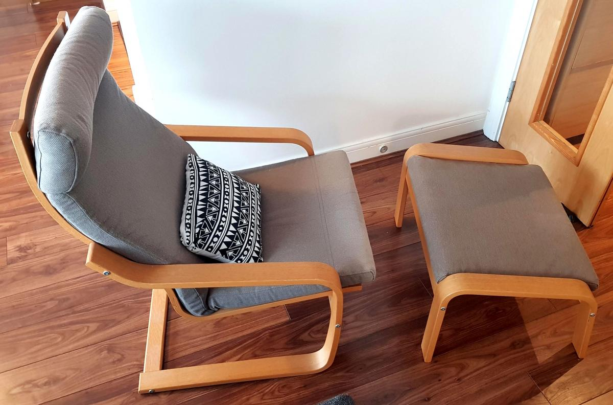 Ikea Poäng Chair Recliner With Footstool