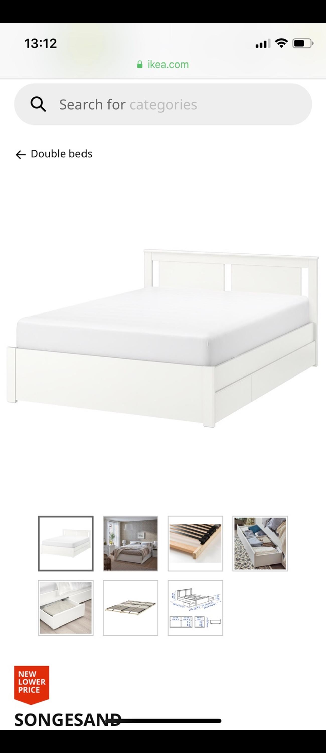 Double Bed From Ikea