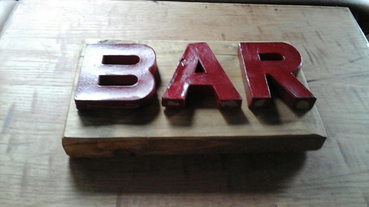 pub bar sign