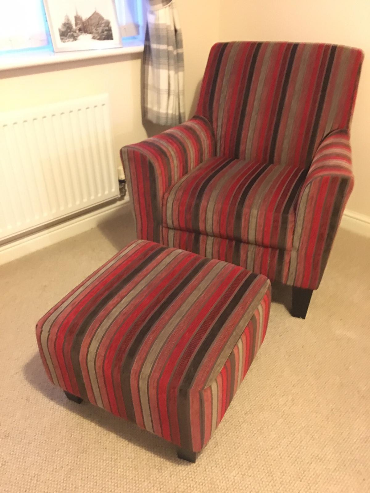 Peachy Next Accent Chair And Footstool In Ll29 Colwyn For 155 00 Ocoug Best Dining Table And Chair Ideas Images Ocougorg