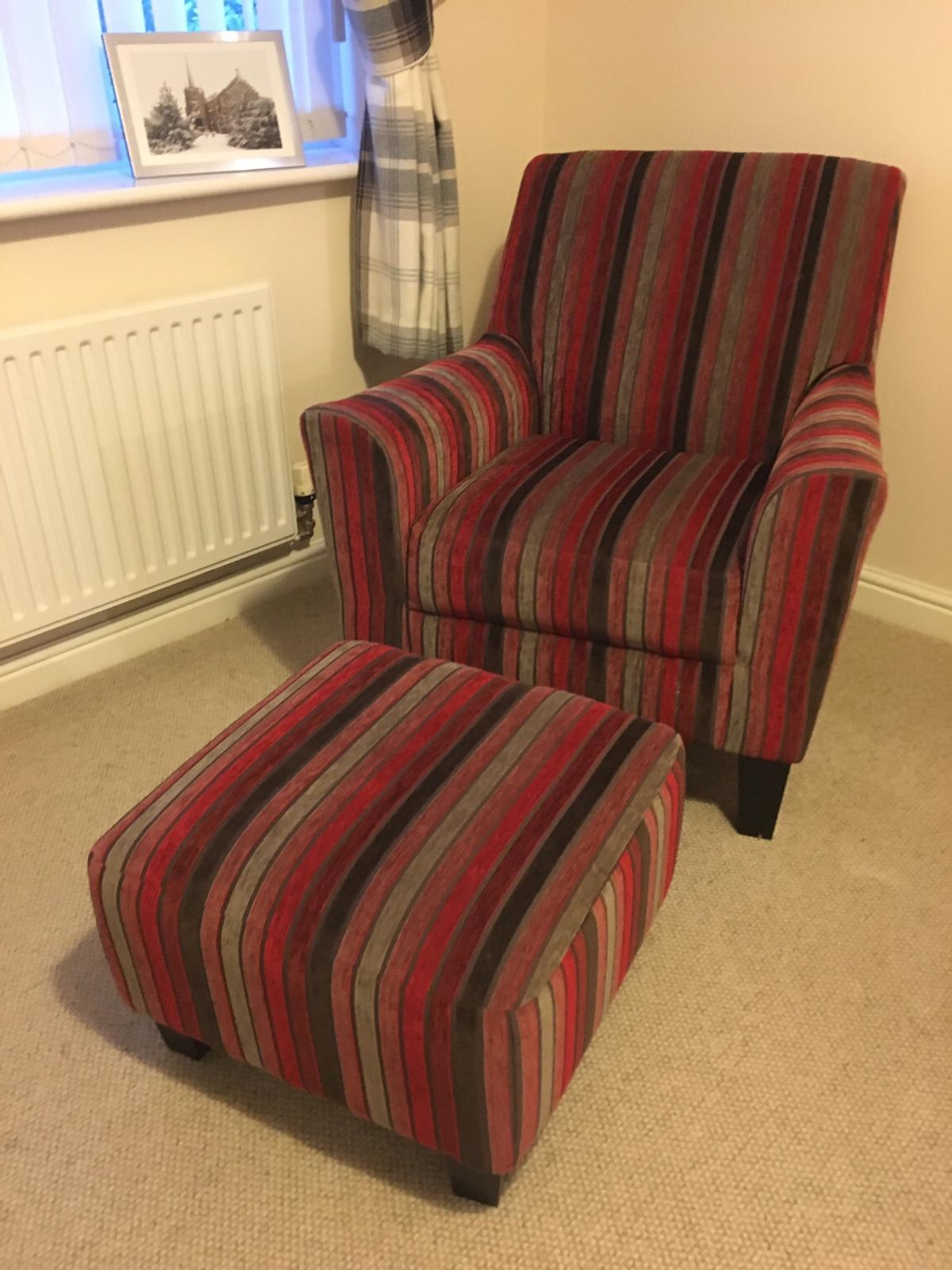 Sensational Next Accent Chair And Footstool In Ll29 Colwyn For 155 00 Ocoug Best Dining Table And Chair Ideas Images Ocougorg