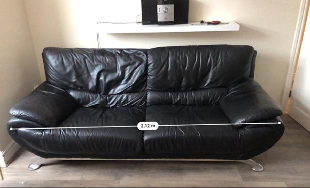 strong, comfy Leather 3 seater sofa. in CV10 North ...