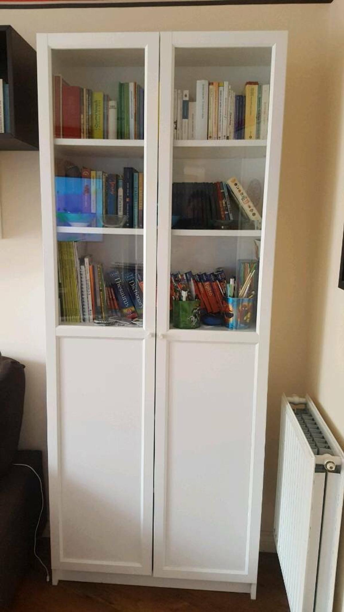 Ikea Billy Bookcase With Panel Glass Doors