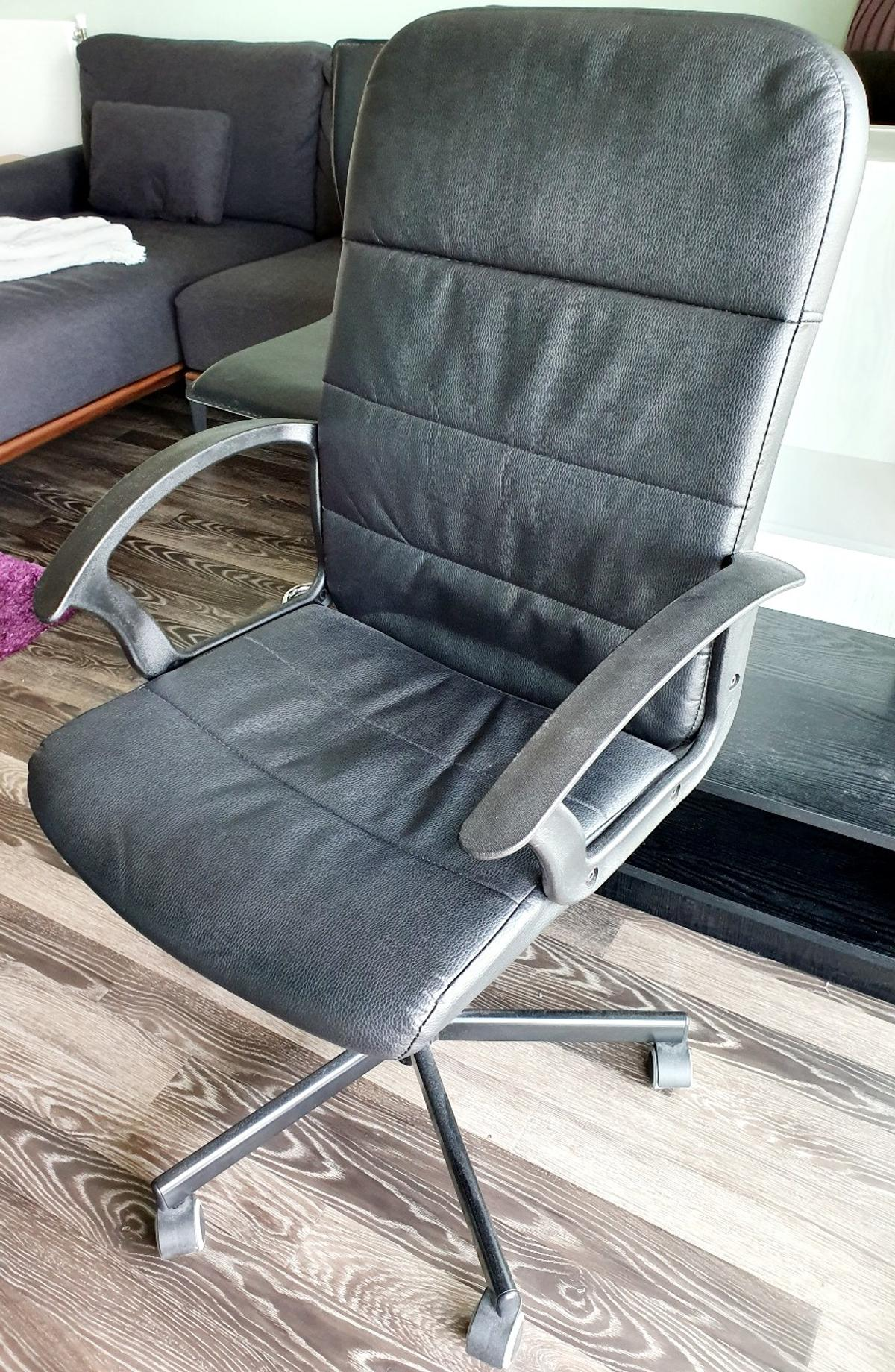 Cool Ikea Faux Leather Desk Office Chair Ncnpc Chair Design For Home Ncnpcorg