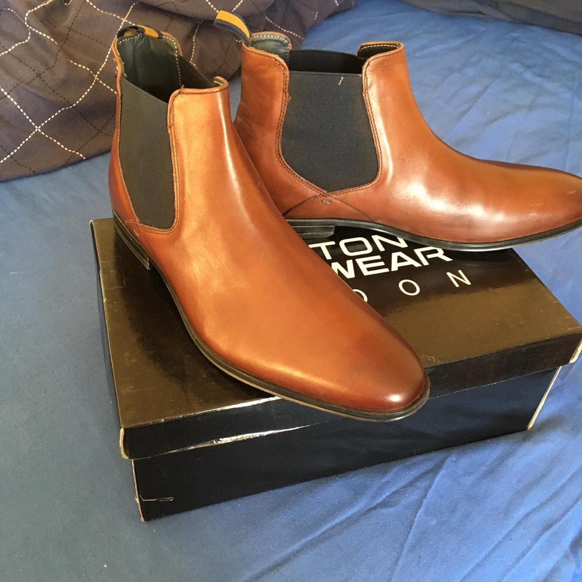 Men's mid brown boots Size 12 Worn for an hour if that
