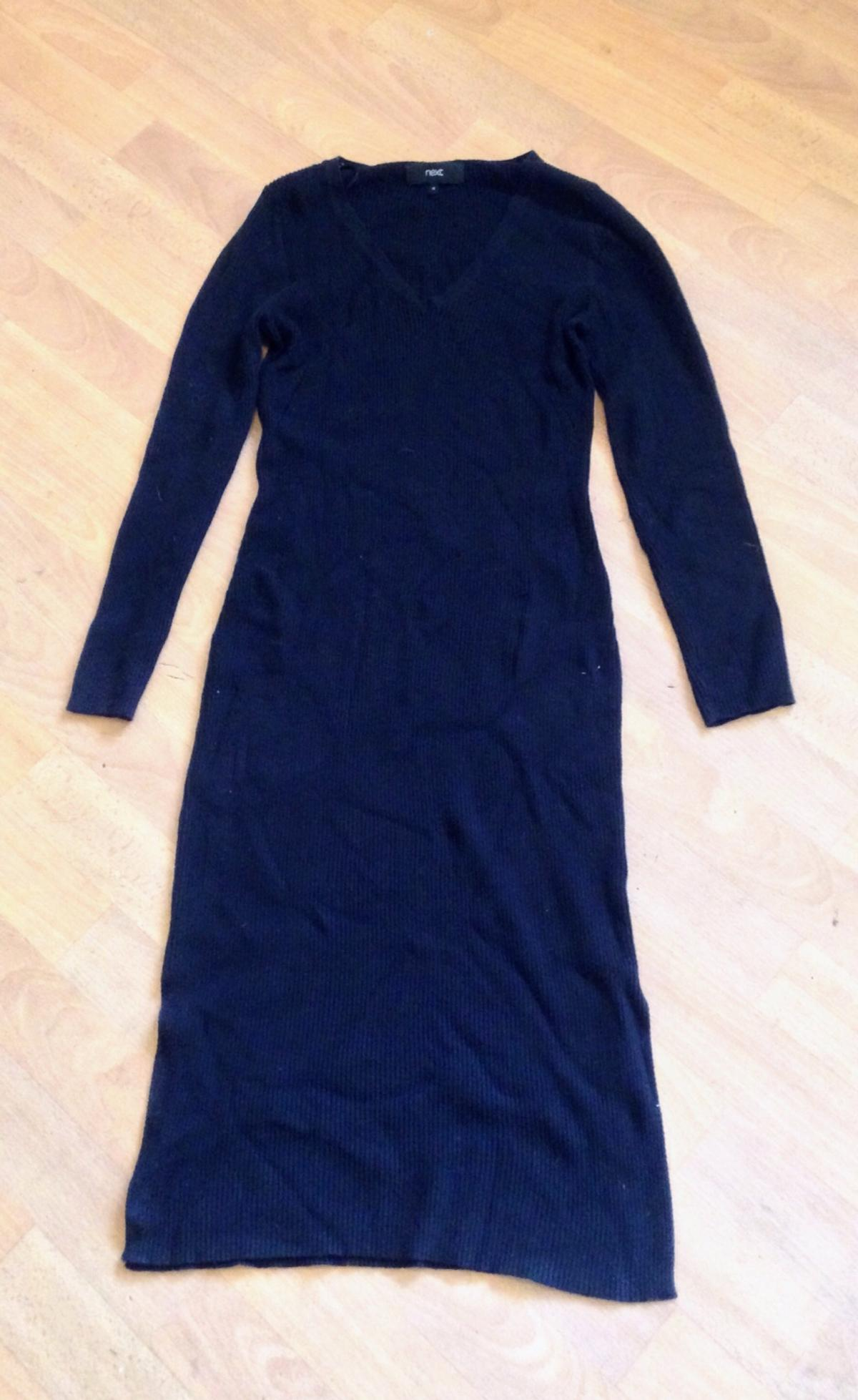Just above ankle length stretchy dress