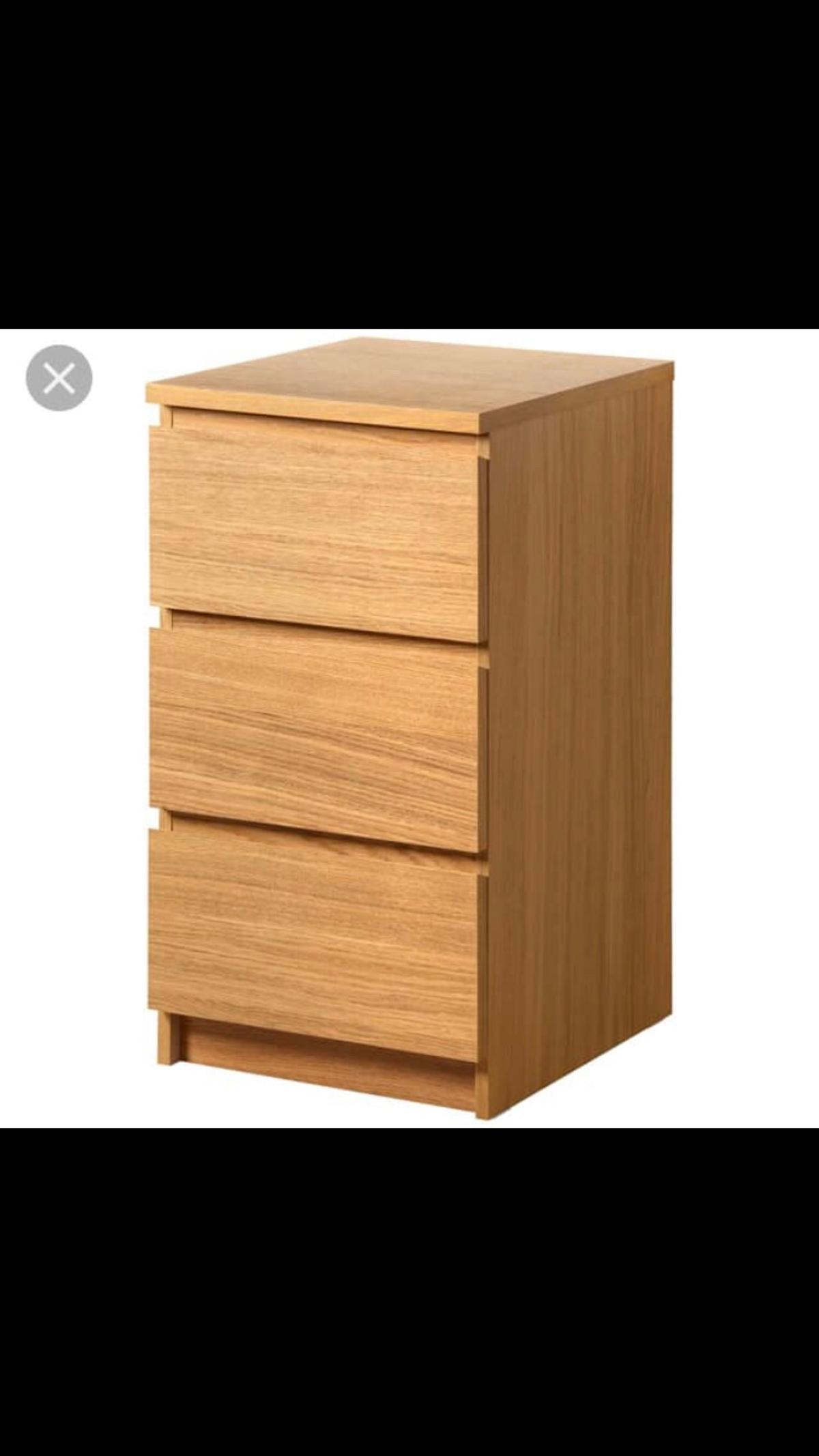 Bedside Table Chest Of 3 Drawers In B77 Tamworth For 25 00