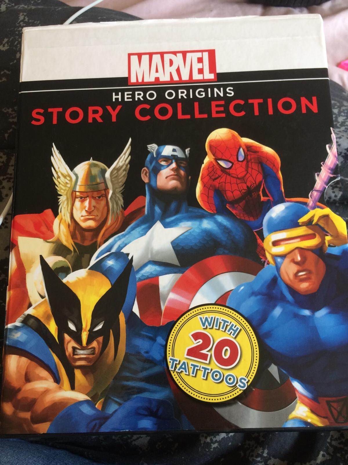 4 book marvel story collection set, no damages to pages, like brand new, all 4 books are in perfect quality.  open to offers
