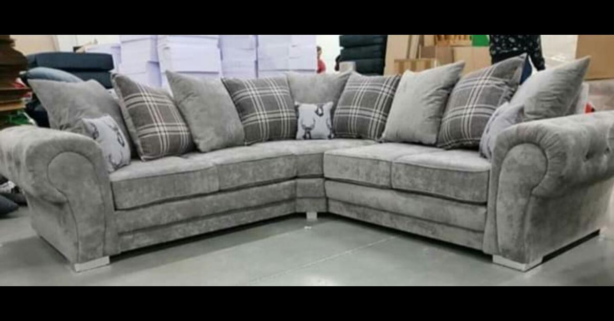 (NEW) GREY WINDSOR CORNER SOFA