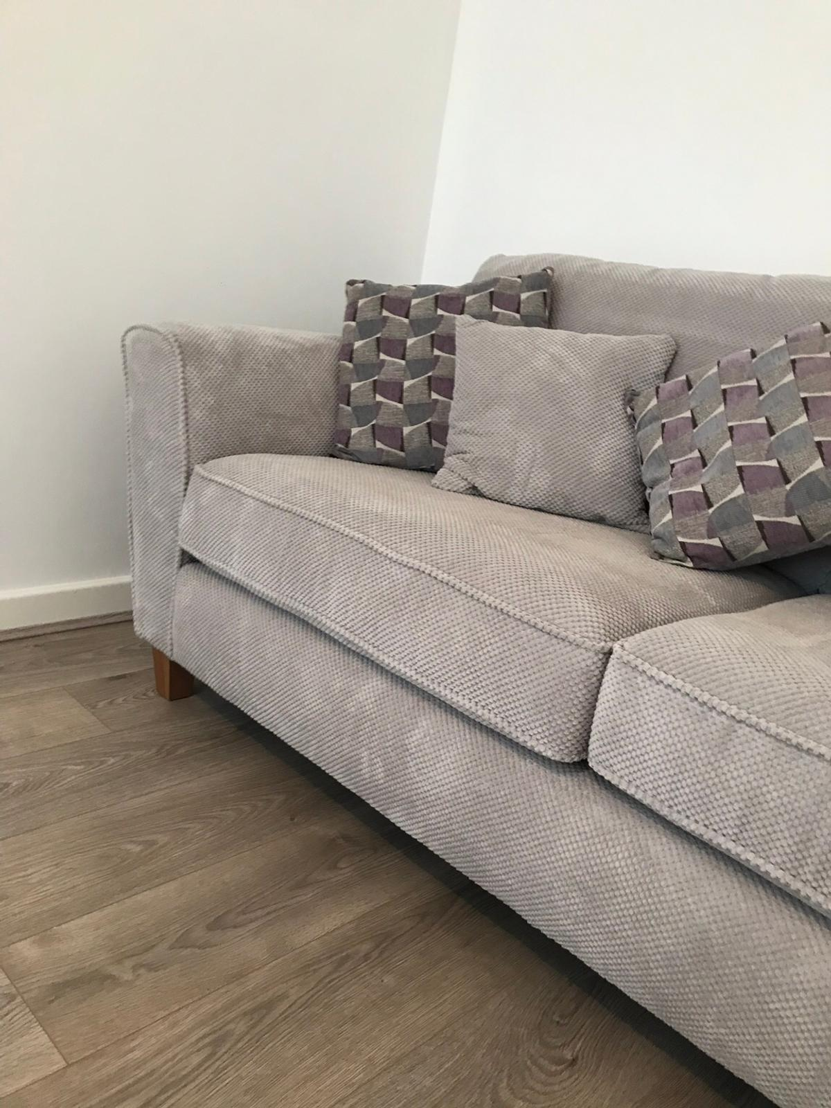 Brand New Grey Sofa And Cushions