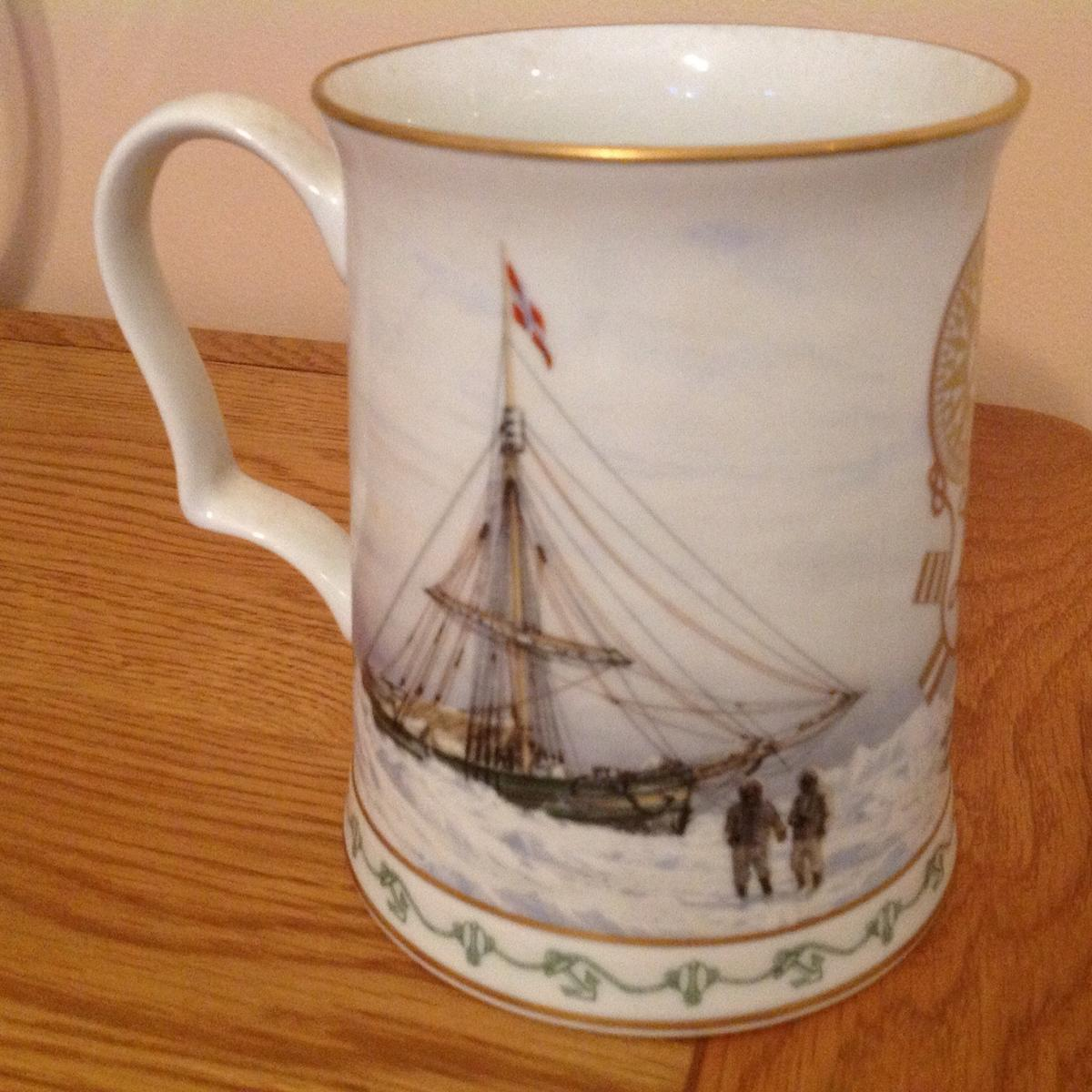 Ronald Amundsens ship Gjoa Norwegian maritime museum 75th anniversary Commemorative tankard Franklin mint national maritime museum collection