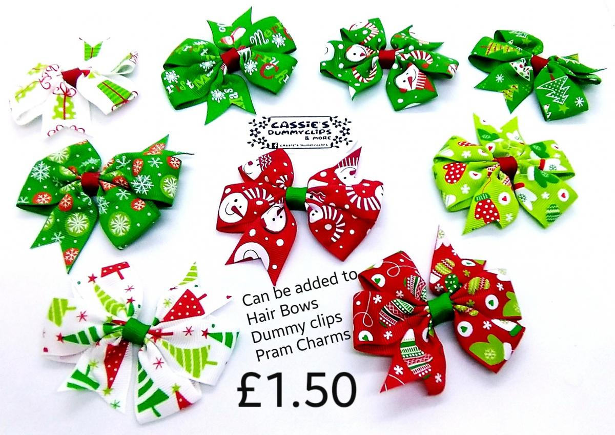Christmas Items now on sale. all prices on photos. Can be done in any name and colours! I also offer post