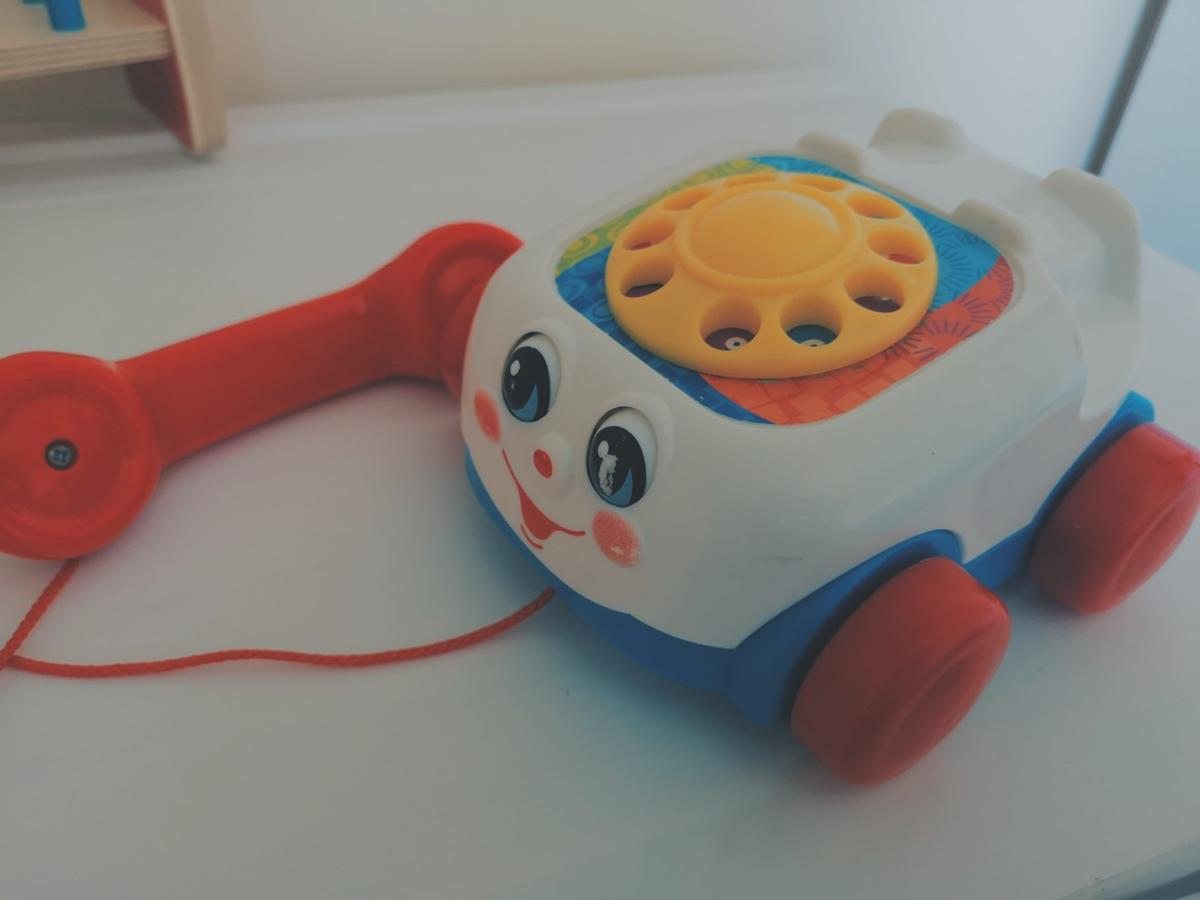 Fisher Price Phone 2000 - Pull along - Eyes move when pulled - Ringing noise when dial turned  Good condition. Colect only!