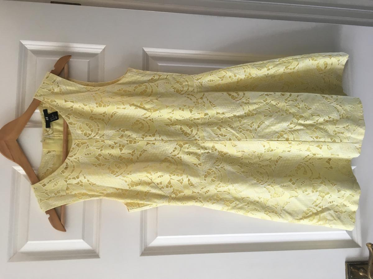 Yellow, lace shift dress. Only worn a few times. Pick up only, open to offers
