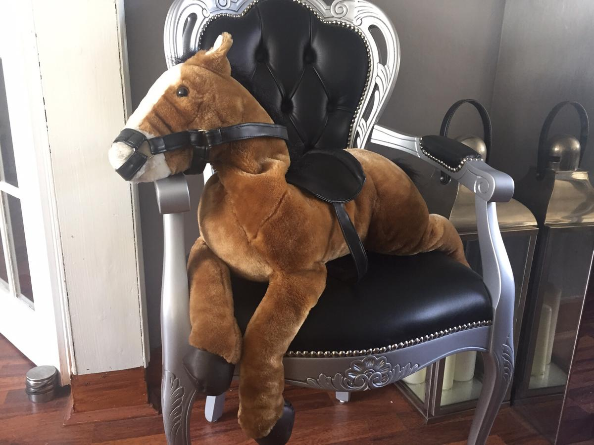 Soft toy comes from a clean and smoke free home has been stored away so not been played with Measurements From tail to nose 87cms