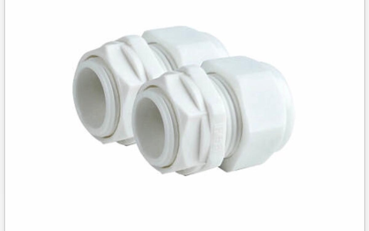 White grey cable glands. 59 x 20mm small 56 x 25mm large
