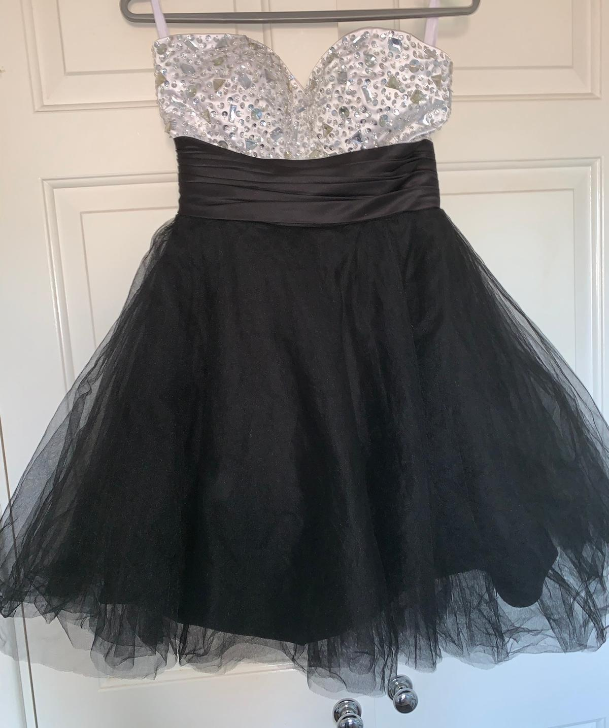 Black & Sequin Prom Dress Size 10 Worn on one occasion, great condition RRP: £135 Open to Offers x