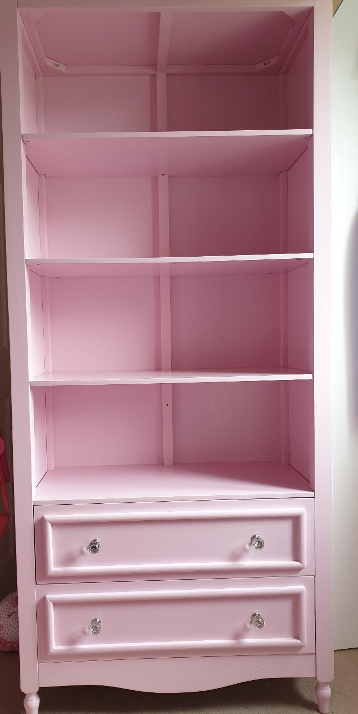 Tall Pink Bookcase Display Drawers 32 In S6 Sheffield For