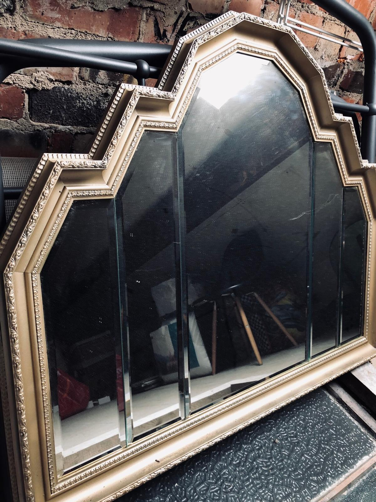 Large Gold Art Deco Mirror Good Condition In Fy6 Wyre For 20 00 For Sale Shpock