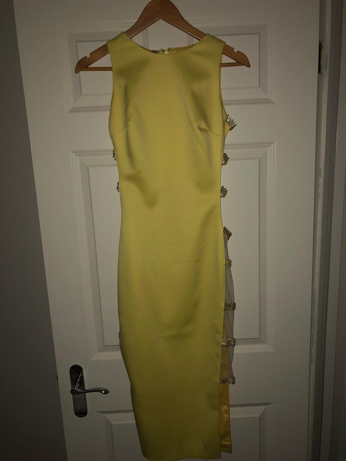 House of CB Yellow Dress. Never worn, still has its labels and original box. RRP £129