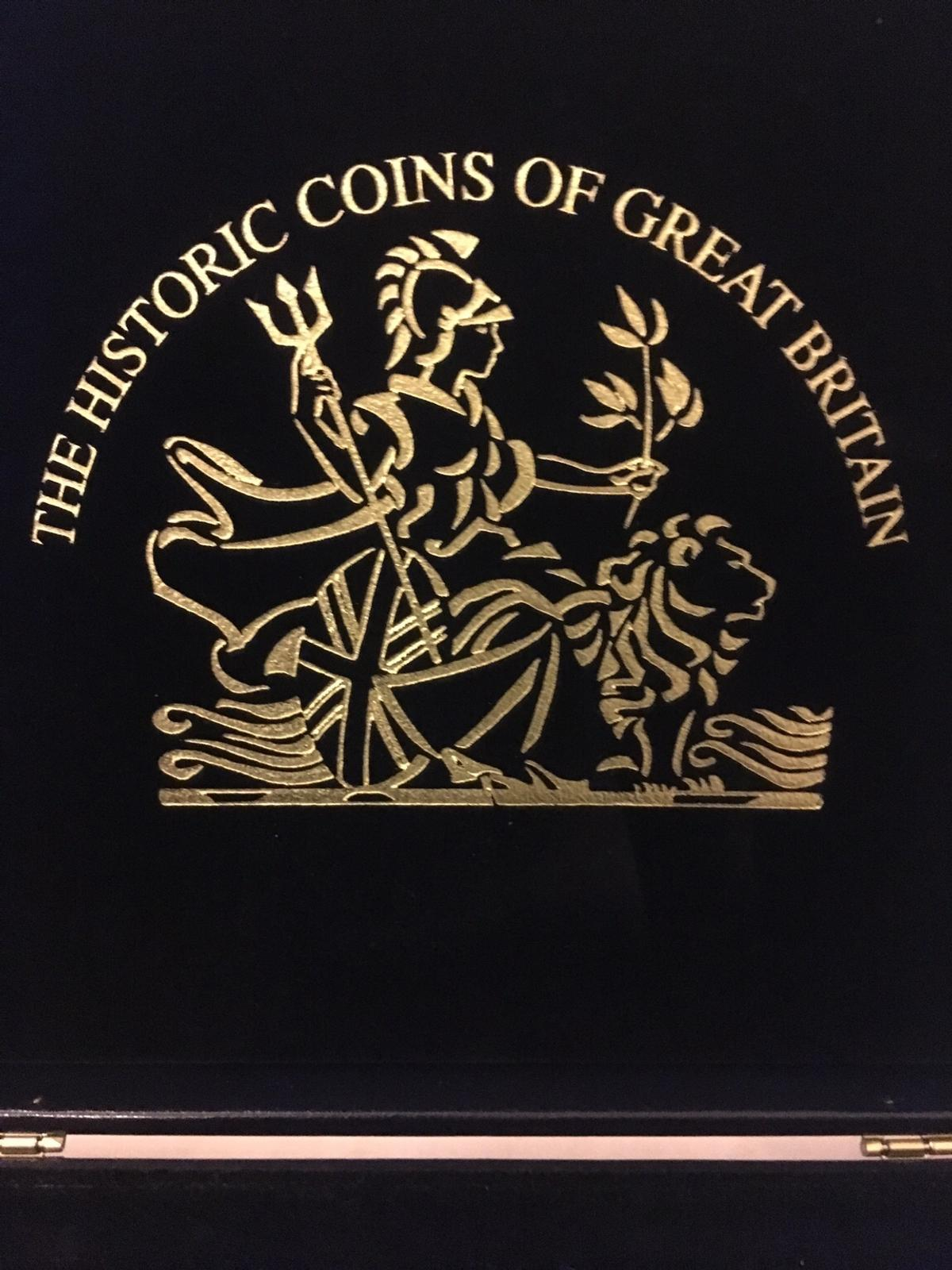 Used historic coins of Britain collection box in excellent condition. Collection from IP327GX can post for a fee. Tel.No.07808243064. £12.