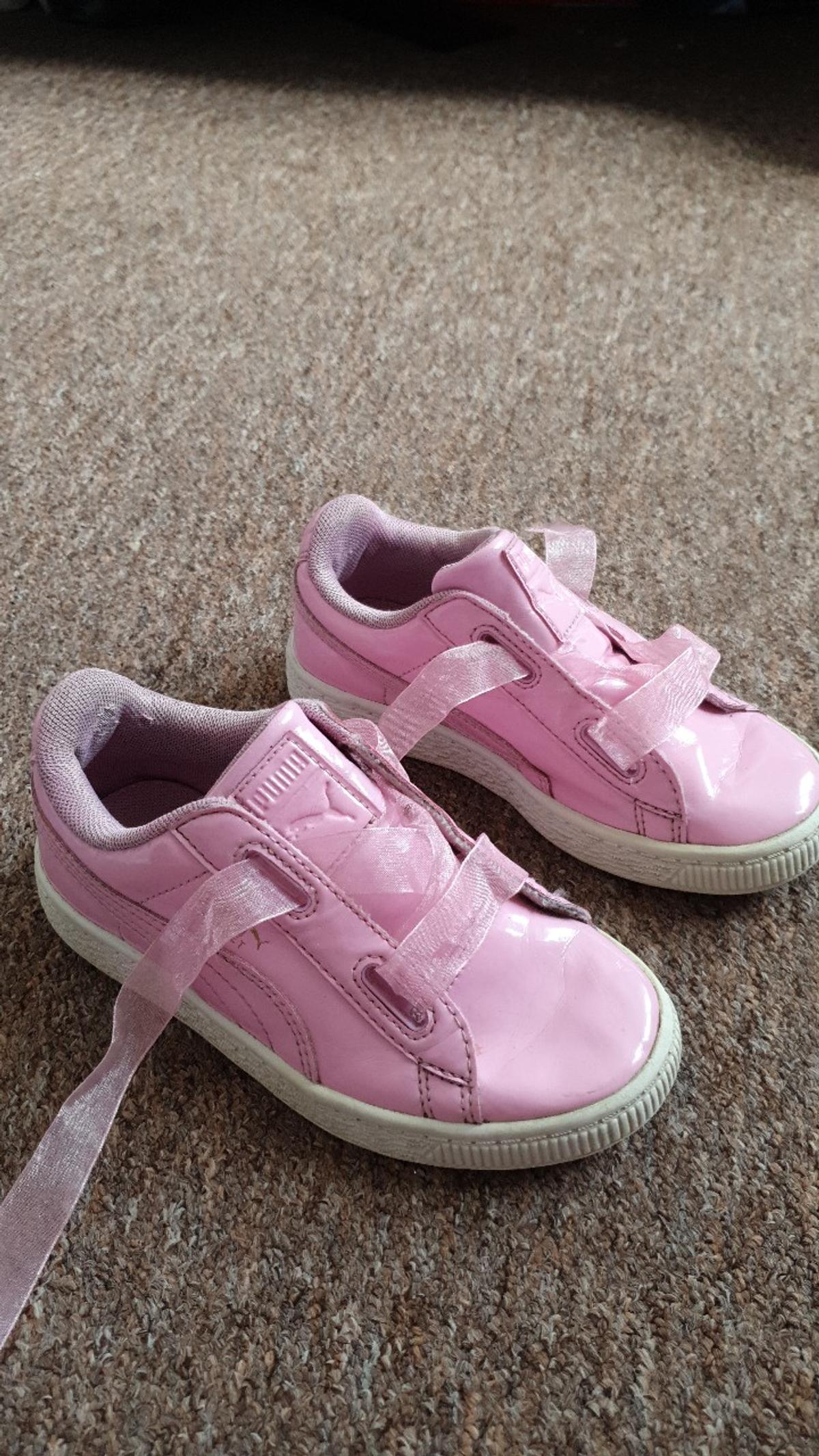 girls pink puma trainers size 11 collection only stapleford area