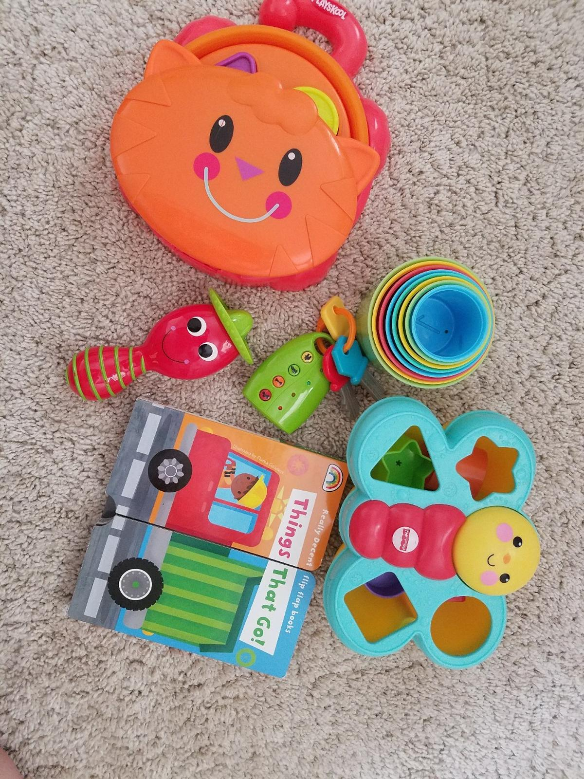 shape sorter all pieces in tact book stacking cups you keys  pet/smoke free home