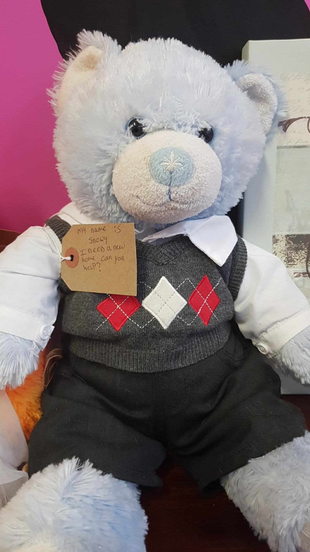 I am a build a bear looking for a new home... can you help me ?.