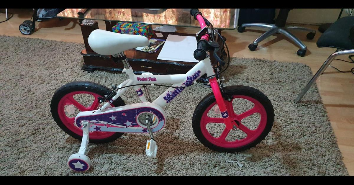 It's Like a new and very good condition. its very nice looking and stylish bicycle for girls. I can deliver within 3 miles.