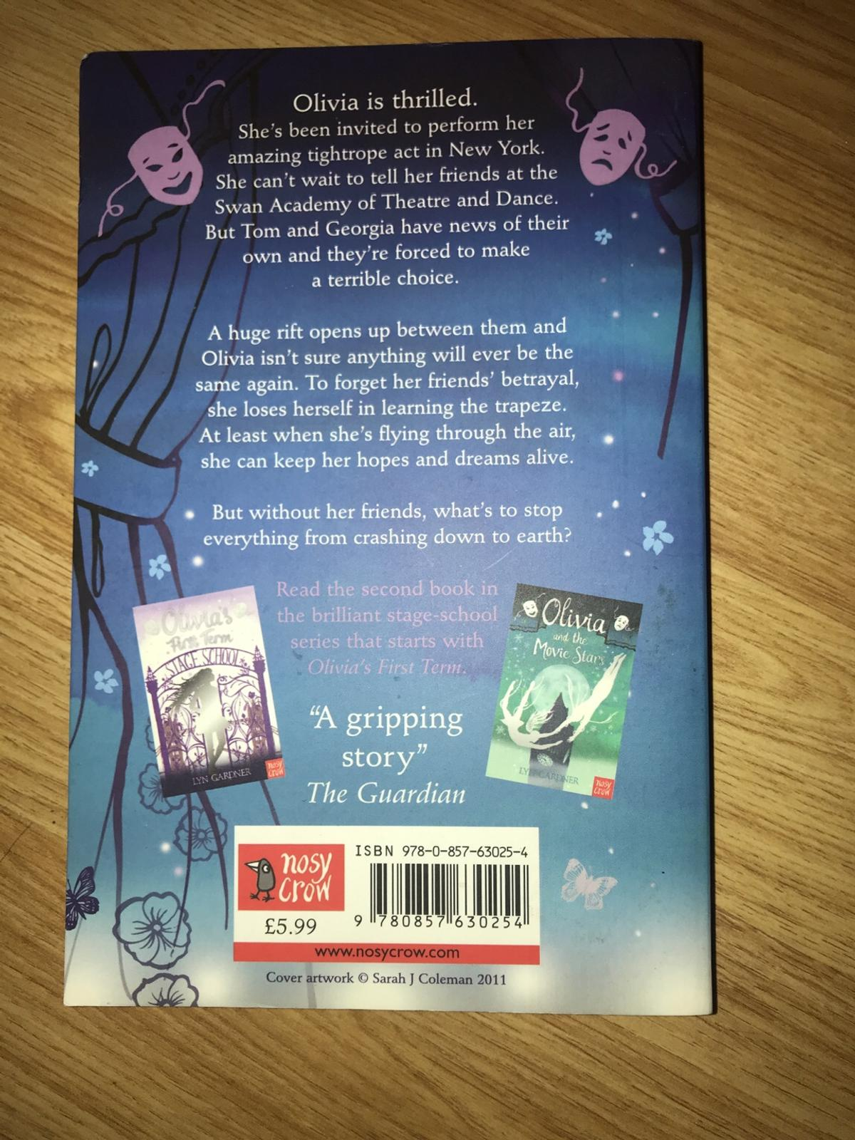 Set of two young adult books including: Wishing for tomorrow and Olivia flies high