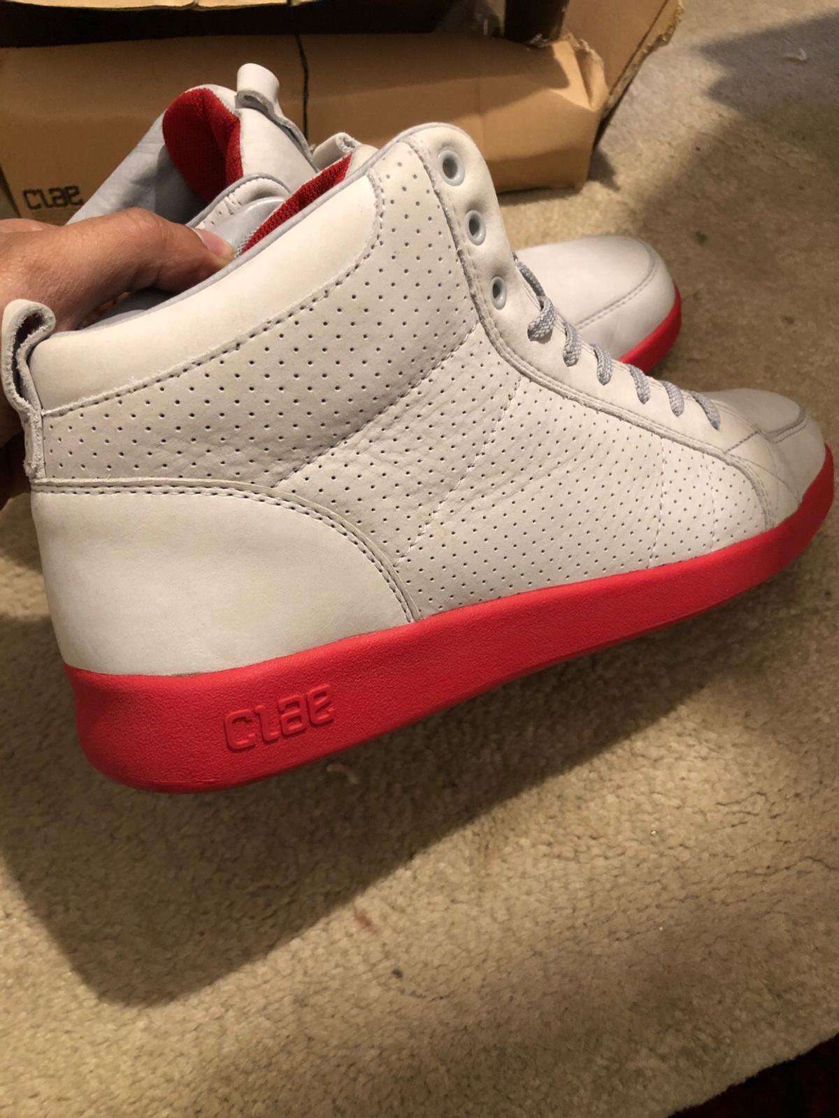 Clae yeezy colour way hightop designer shoes  Worn, condition 8/10, nothing very noticeable.