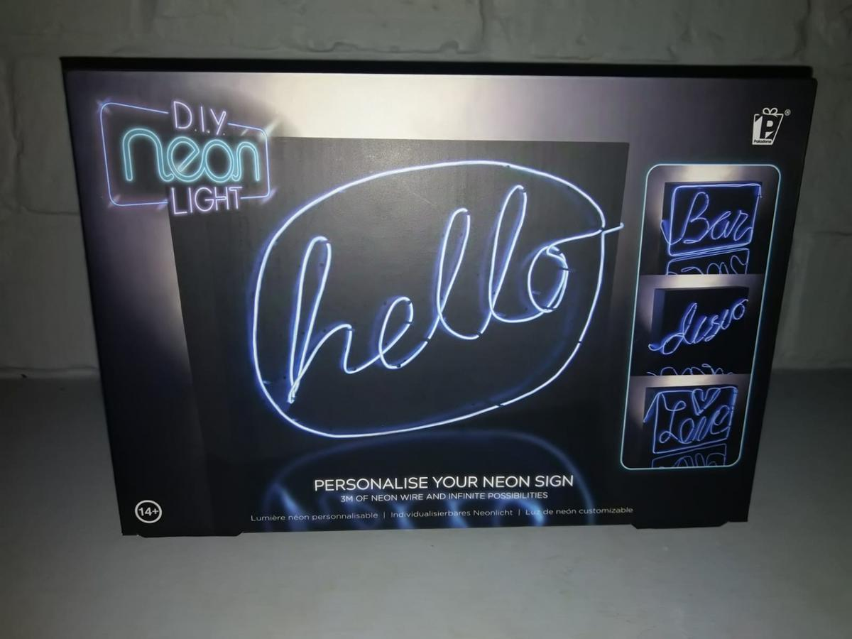 personalise your own neon sign new in box