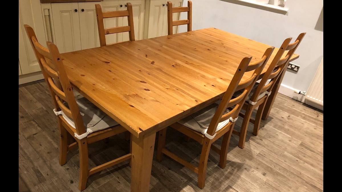 Pine Dining Table Chairs In Pr7