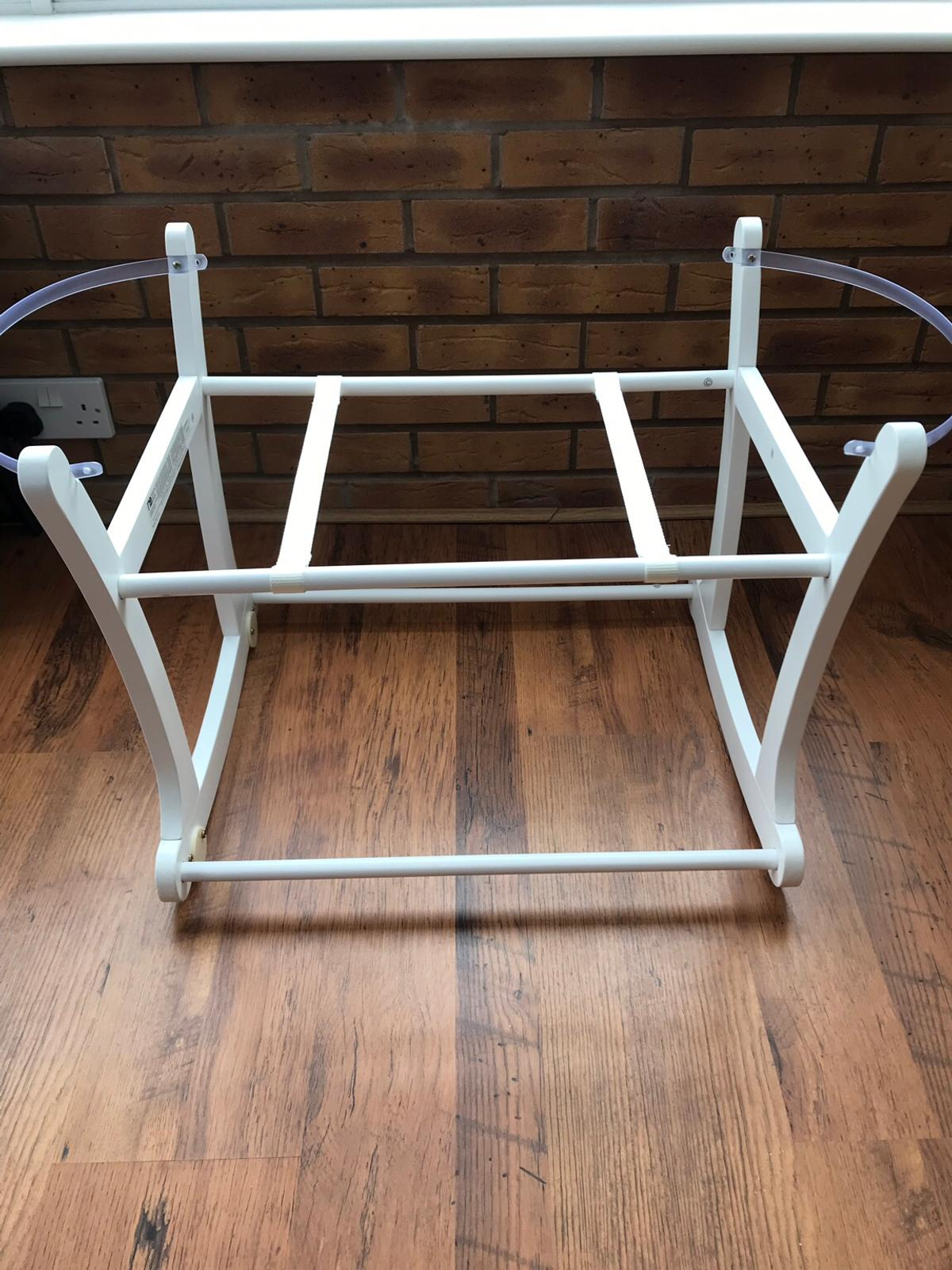 Selling Moses basket stand , it is brand new and never been used , would like £15-£20 for it as paid £35 and never used but I will accept a reasonable offer as would like to get rid :) Collection only please