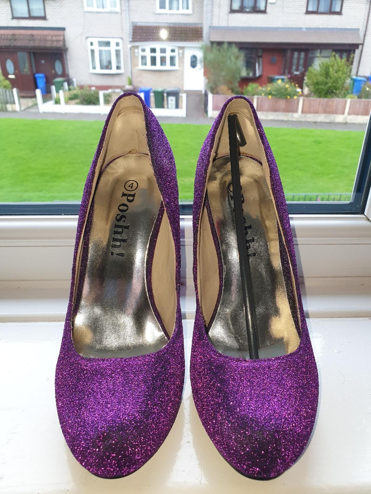 gorgeous purple heels, size4, brand new, never worn, pickup only, £20 ono