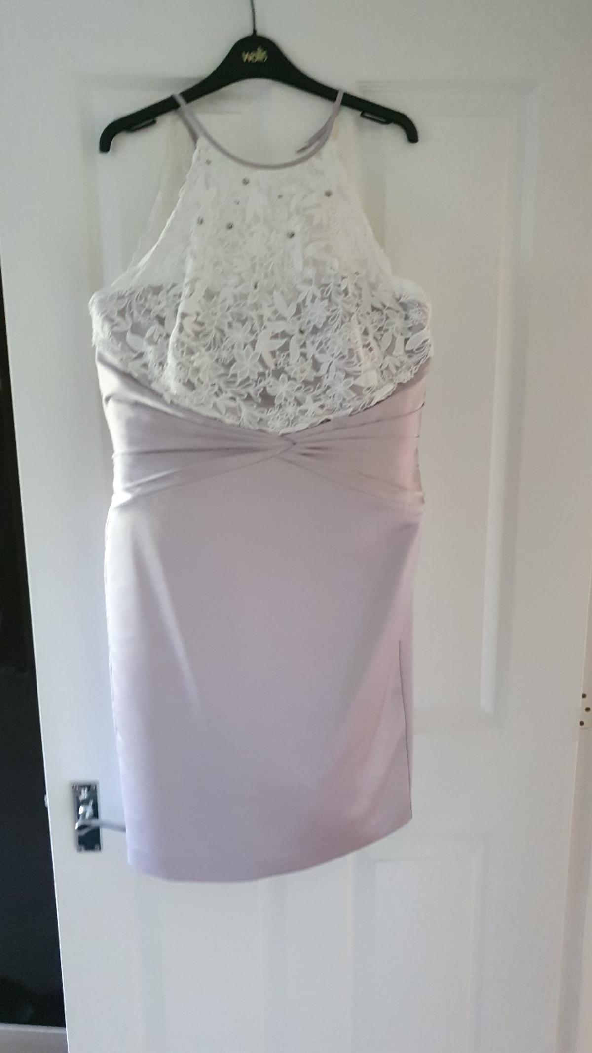 Beautiful Coast dress, ivory/oyster vgc, worn once only, size 16