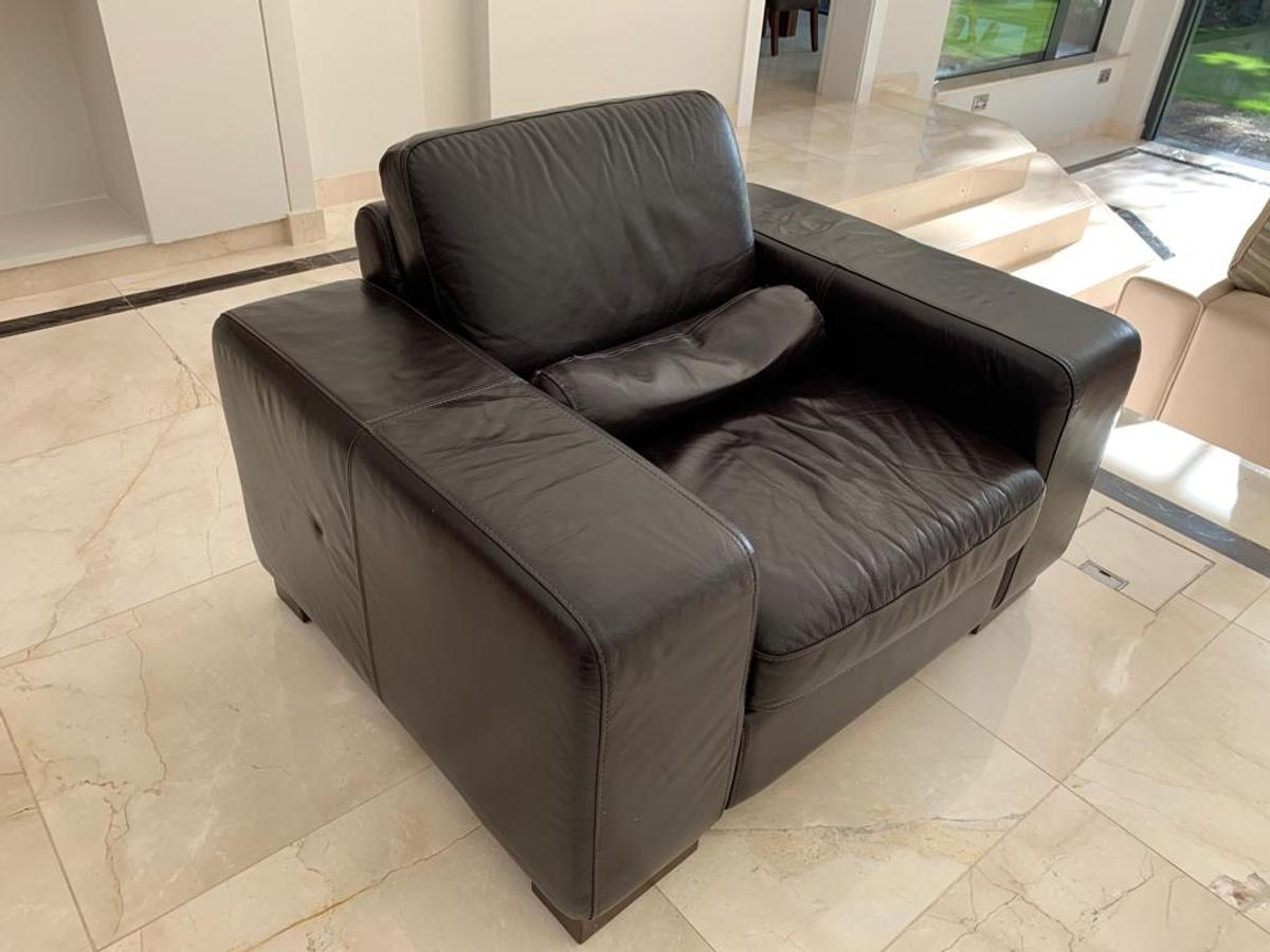 Miraculous Natuzzi Luxury Chocolate Leather Suite Sofa In London Caraccident5 Cool Chair Designs And Ideas Caraccident5Info